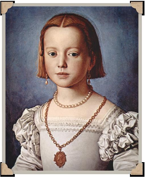 Retrato de Bia de Madici de Bronzino