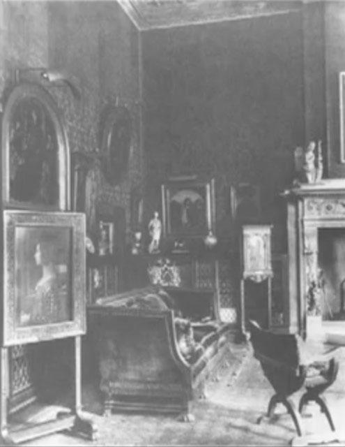 """""""West Room"""" podemos apreciar el retrato de Giovanna a la izquierda"""