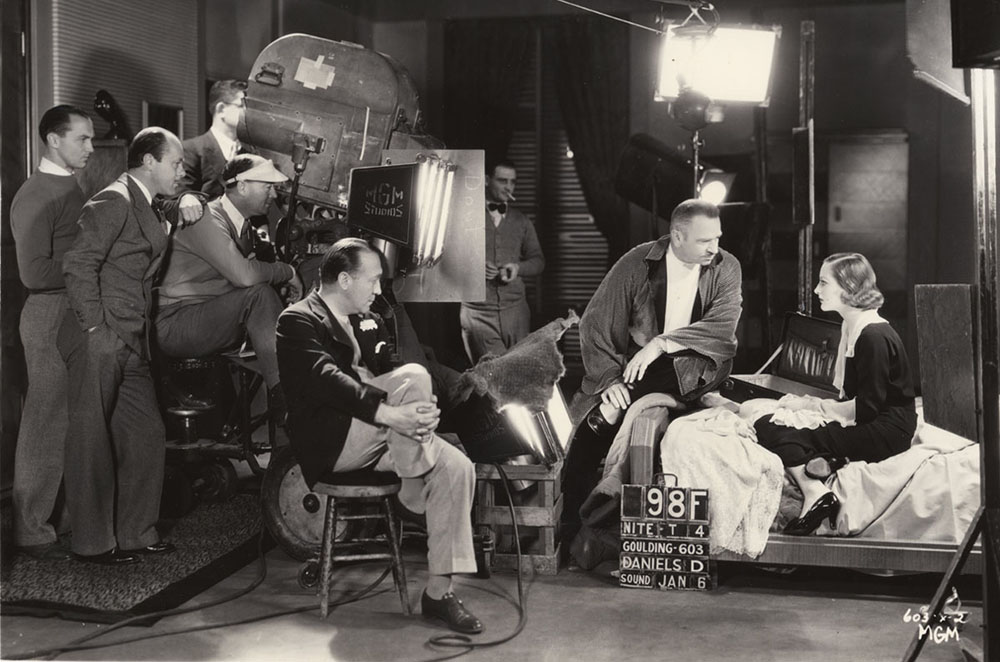 Edmund Goulding, William H Daniels, Wallace Beery and Joan Crawford- filmfoodie.blogspot.com