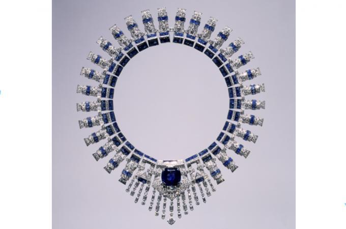 Cartier - las joyas de Marjorie Merriweather - collar de zafiros - por Vintage By Lopez-Linares