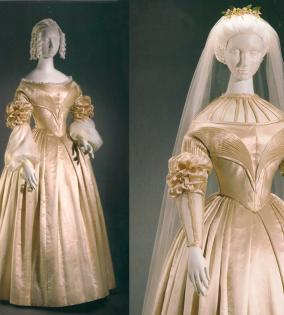 Mosaico-del-vestido-de-novia-que-lucieron-Mary-Muhlenberg-y-su-madre-antes-y-después-del-retoque--Vintage-By-López-Linares-