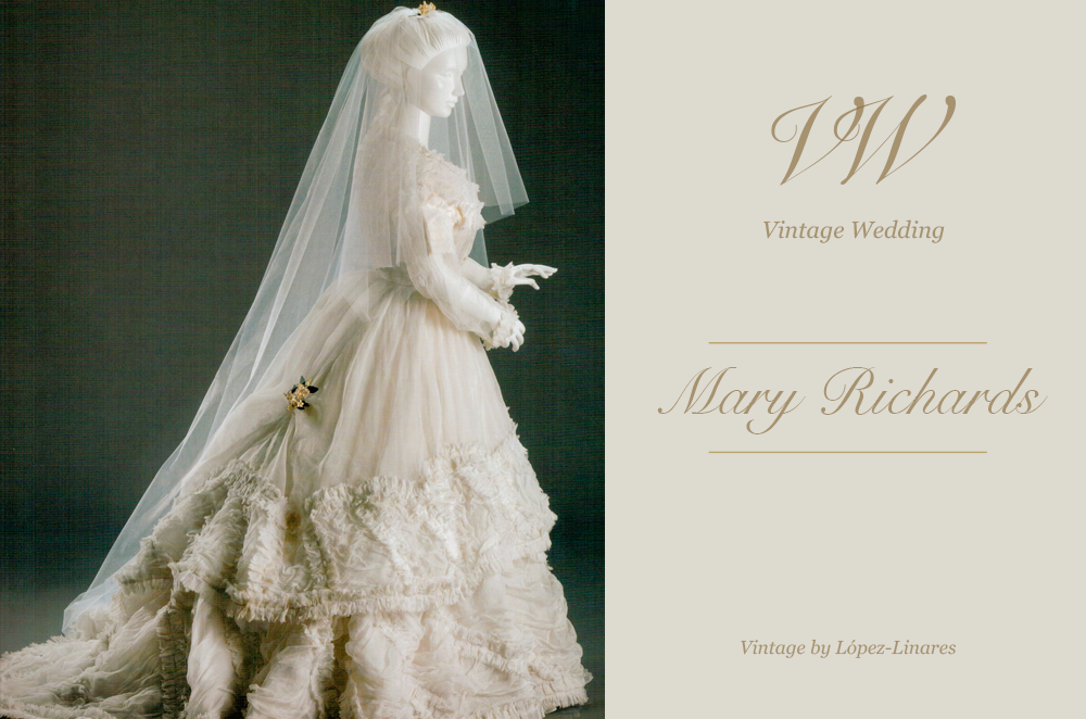 mary dayton richards; una novia de finales del siglo xix - vintage