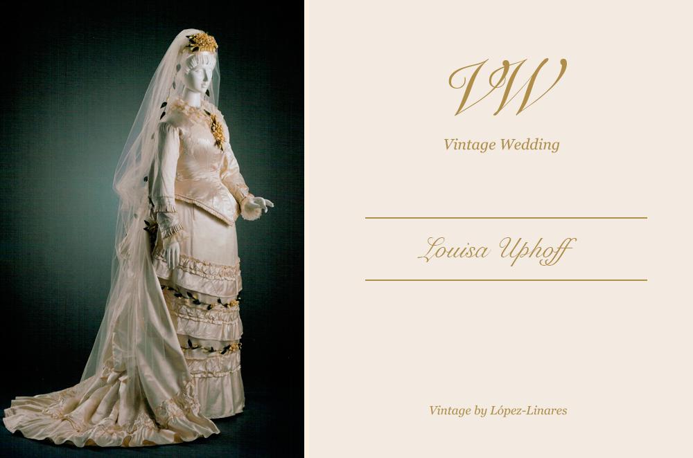 louise uphoff: una novia demasiado clásica para su época - vintage